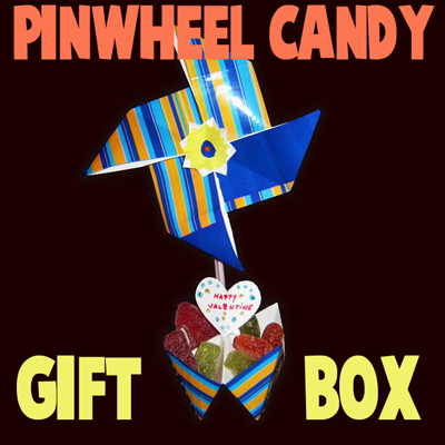 Making a Valentines Day Pinwheel Sweet Candy Gift Box Craft for Kids – Part 1