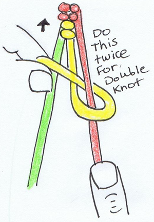 Step 11 : Making Double Knotted Friendship Bracelets Instructions