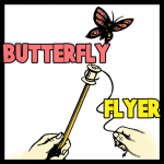 How to Make a Flying Butterfly Toy Arts and Crafts Project for Kids