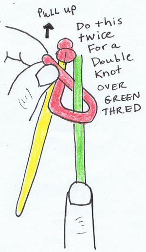 Step 7 : Making Double Knotted Friendship Bracelets Instructions