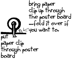 bobbin and paper clip zip line craft