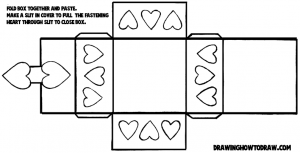 Valentines Day Hearts box-pattern-8x11 black and white