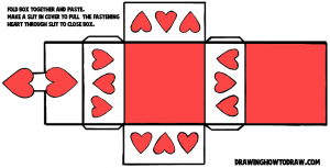 Valentines Day Hearts box-pattern-color-8x11