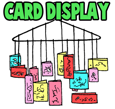 Making a Greeting Card Display Wall Hanger Crafts Idea for Kids