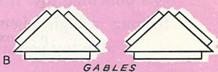 For the gables of the roof, cut two triangular pieces of cardboard
