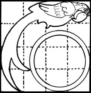 Print Balancing Parrot Toy Paper Craft