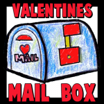 How to Make a Valentines Day Mailbox with Movable Flag Crafts Project for Kids