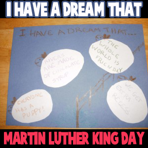 I Have A Dream Wall Hanging Poster Martin Luther King Day Craft