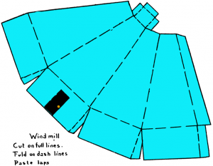 How to Fold Paper Windmills craft for Kids