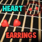 How to Make Pretty Earrings or Ear studs Hearts for Valentine