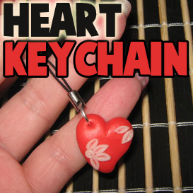 How to Make a Polymer Clay Heart Keychain Crafts Idea for Kids on Valentines Day