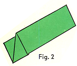 Fold back the corner of one end of the paper. Then fold back the facing corner in just the same way.