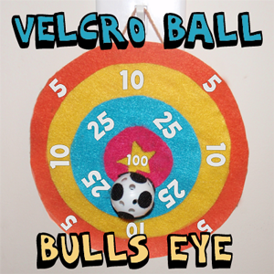 Making a Velcro Bullseye Ball Tossing Game to Make for Children