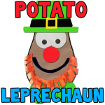 How To Make A Potato Face Leprechaun Preschool Crafts Activity for St. Patricks Day