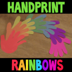 How To Make Hand Print Rainbows for St. Patrick