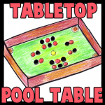 How to Make a Toy Pool Table with Checkers and Cardboard