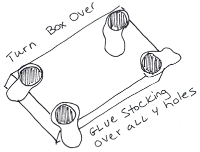 Step 5 : Making Cardboard Billiards Pool Table Games Crafts Activity
