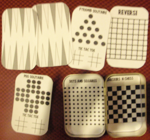 Backammon, Pegs Solitaire, Pyramid Solitaire, Dots and Squares Checkers and Chess Games