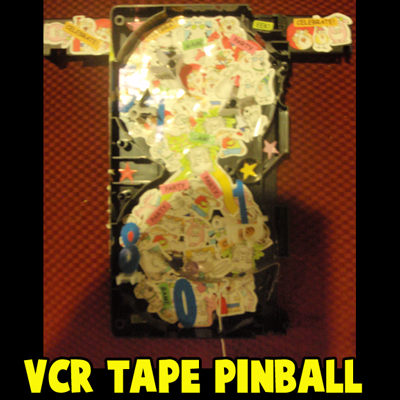 How to Make Pinball Machine Game from Old VCR Tapes Craft