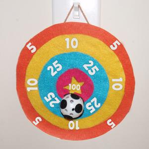 Making a Velcro Bullseye Ball Tossing Game to Make for Children