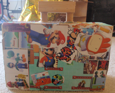 How to Make a Super Mario Wooden Suitcase From Clementines Boxes Crafts Idea