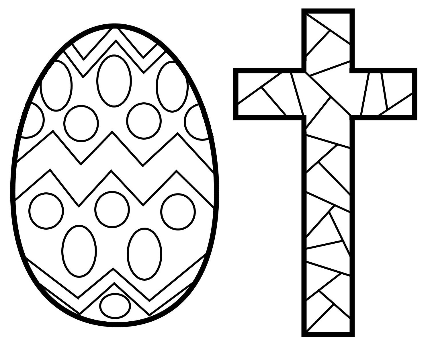 How to make stained glass easter ornaments kids crafts for Easter mosaic coloring pages