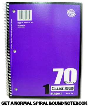 Decorating Spiral Notebooks With Decorative Paper For Back To School
