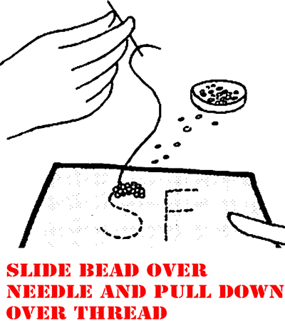 Then sew on your beads