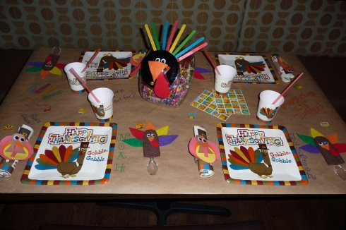Markers and Stickers Thanksgiving