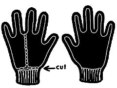 Buy a pair of black gloves....or even better, find an old pair of black gloves