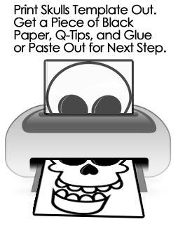 How To Make Q Tip Skeletons Kids Crafts Activities Kids Crafts