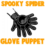 How to Make a Spooky Spider Glove Puppet