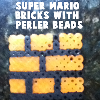 How to Make the Bricks from Super Mario Bros. with Perler Beads
