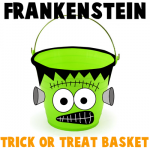 How to make a Frankenstein Trick or Treat Basket