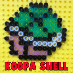 How to Make a Koopa Shell from Super Mario Bros. with Perler Beads