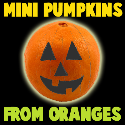How to Make Mini Pumpkins from Oranges