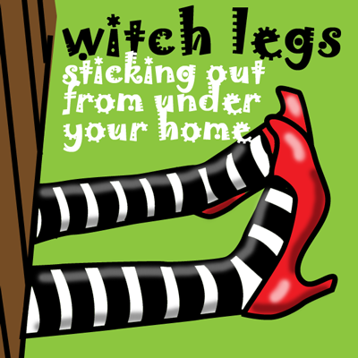 How to Make Pretend Witch Legs for Halloween