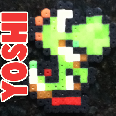 How to Make Yoshi from Super Mario Bros. with Perler Beads