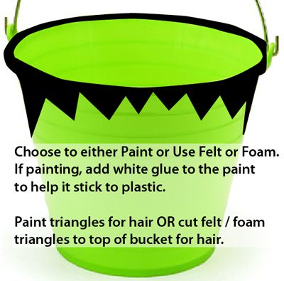 Paint triangles for hair
