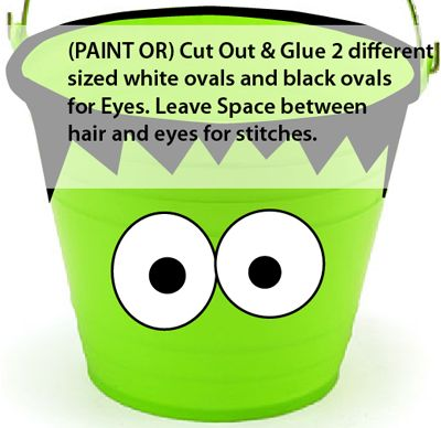 Paint two white ovals and two black ovals for eyes.