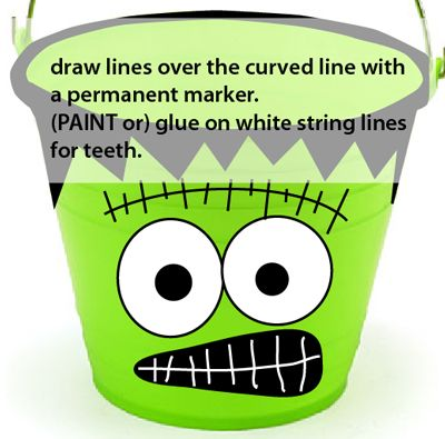 Draw lines over the curved line with a permanent marker.