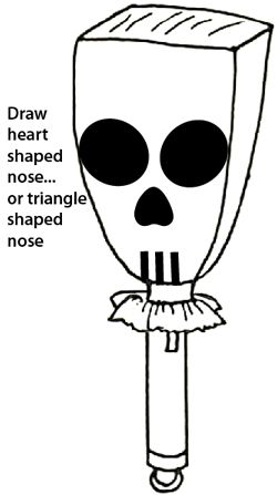 Draw a heart shaped nose... or a triangle shaped nose