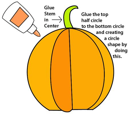 Glue the stem in center