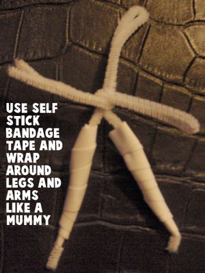 Use self stick bandage tape and wrap around legs and arms like a mummy