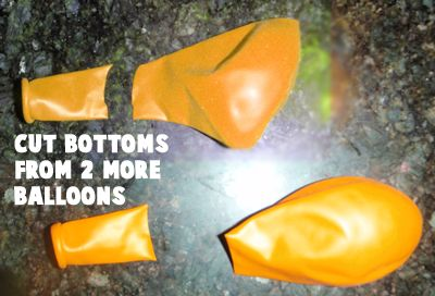 Cut bottoms from two more balloons
