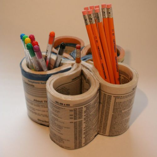 Use a Phone Book to organize your crafts