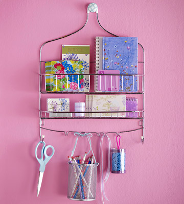 Use a Shower Rack to organize your crafts