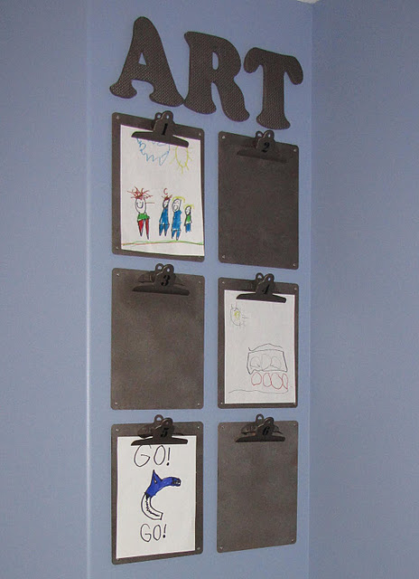 Hang Clipboards to Display Art