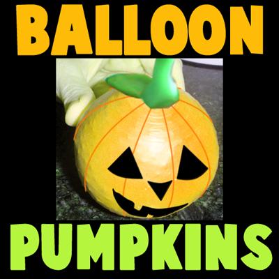 How to Make a Halloween Bean Bag Balloon Pumpkin