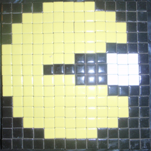 Mosaic Pacman Pixelated Picture from Tiles